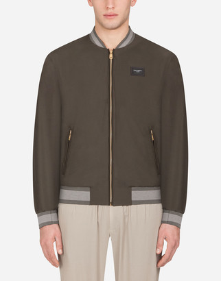 Dolce & Gabbana Nylon Jacket With Branded Plate