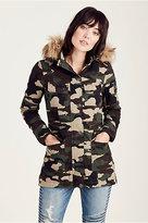 True Religion Womens Camo Parka Jacket