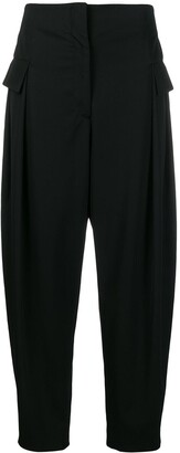 Stella McCartney Rosalinda flap pockets tapered trousers