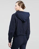 Donna Karan Hooded Taffeta Jacket