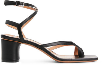 Arket Ankle-Wrap Leather Sandal