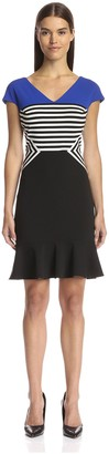 Julia Jordan Women's Colorblock Fit-and-Flare Dress