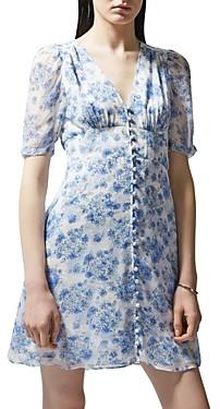 The Kooples Vintage Flowers Floral Print Dress