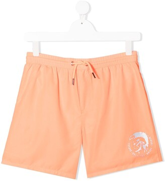 Diesel TEEN logo-print swim shorts