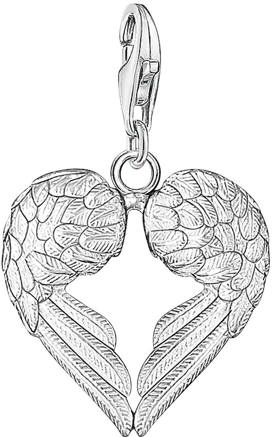 Thomas Sabo Sterling Silver Charm Club Angel Wings Heart Charm