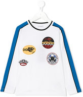 Dolce & Gabbana logo patch top - kids - Cotton/Polyester - 4 yrs