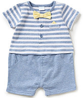 Starting Out Treasures Baby Boys Newborn-6 Months Striped Shortalls