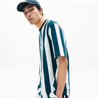 Lacoste Men's LIVE Striped Cotton T-Shirt