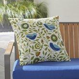 "Crate & Barrel Birds 20"" Sq. Outdoor Pillow"