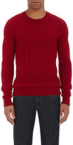 Zanone MEN'S CABLE-KNIT SWEATER-RED SIZE L