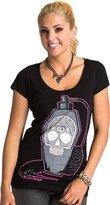 Metal Mulisha Women's Scentiment Short Sleeve Scoop Neck Graphic T-Shirt