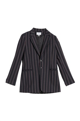 Current/Elliott The Calla Striped Notch Collar Blazer