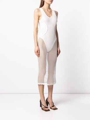 Dion Lee Net-Detail Layered Midi Dress