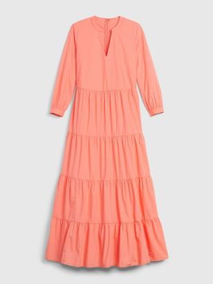 Gap Tiered Split-Neck Dress