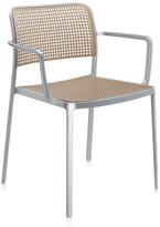 Kartell Audrey Shiny Armchair - Aluminium/Sand