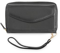 Royce New York Leather Wristlet Wallet