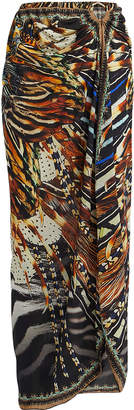 Camilla Embellished Animal-Printed Sarong