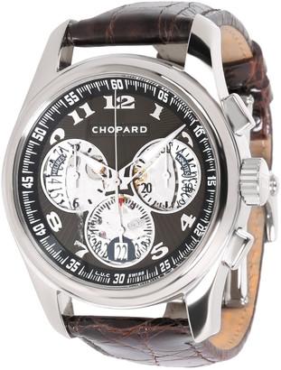 Chopard Black 18K White Gold and Crocodile Leather L.U.C Chrono One 16/1916-1001 Men's Wristwatch 42MM