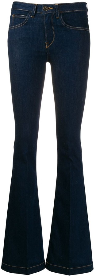 L'Autre Chose flared low-rise jeans