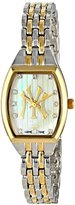 Game Time Women's MLB-WCL-NY3 World Class Two-Tone Stones Analog Display Japanese Quartz Silver Watch