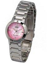 Casio Women's LTP1191A-4C Silver-Tone Pink Dial Analog Quartz Watch