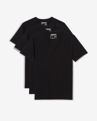 Express 3 Pack Deep V-Neck T-Shirts