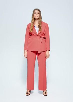 MANGO Violeta BY Structured suit blazer pink - M - Plus sizes