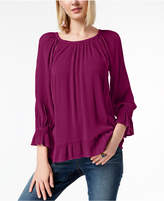 INC International Concepts I.n.c. Crepe Peasant Top, Created for Macy's