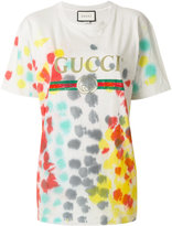 Gucci logo print T-shirt - women - Cotton - M