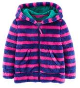 Boden Girls' Hooded Teddy Blue Sweater.