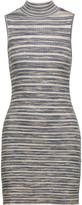 Autumn Cashmere Ribbed cotton turtleneck mini dress