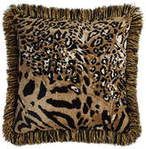 "Sweet Dreams Reversible Madagascar Pillow with Fringe, 18""Sq."