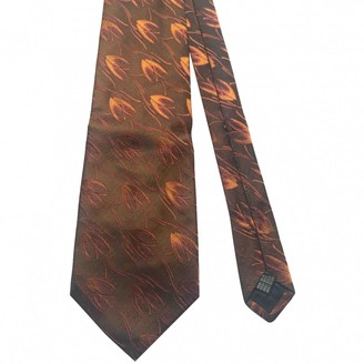 Salvatore Ferragamo Orange Silk Ties