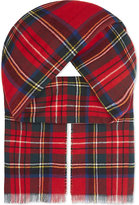 Johnstons Double Faced Tartan/houndstooth Wool-cashmere Scarf