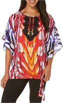 Rafaella Printed Kaftan Tunic Top