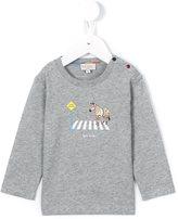 Paul Smith zebra crossing logo print T-shirt