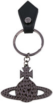 Vivienne Westwood embossed logo keyring - unisex - Leather/metal - One Size