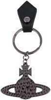 Vivienne Westwood embossed logo keyring - unisex - metal/Leather - One Size