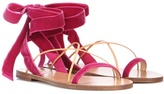 Valentino Garavani velvet and leather sandals