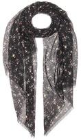Saint Laurent Floral-printed wool scarf