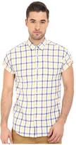 Scotch & Soda Short Sleeve Shirt in Open Weave with Contrast Inside