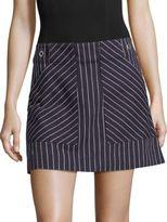 Rag & Bone Wades Pinstriped Cotton Skirt