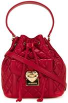 Love Moschino medium quilted bucket tote