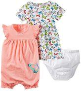 Carter's Baby Girl Butterfly Dress & Polka-Dot Sunsuit Set