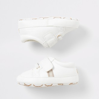 River Island Baby White 'Team cute' trainers