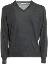 Brunello Cucinelli Knitted Wool And Cashmere V-neck
