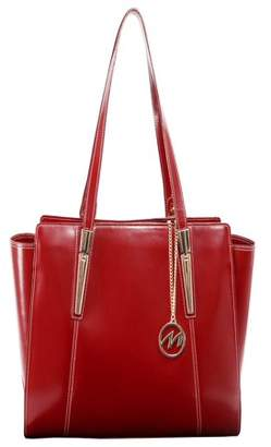 McKlein Usa ALDORA, Ladies' Tote with Tablet Pocket, Top Grain Cowhide Leather, Red (97506)