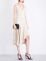 Alexander McQueen Sleeveless asymmetric-hem woven dress