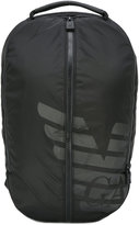 Emporio Armani logo print backpack - men - Nylon - One Size