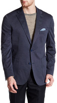 James Campbell Nuovo Blue Woven Two Button Notch Lapel Blazer